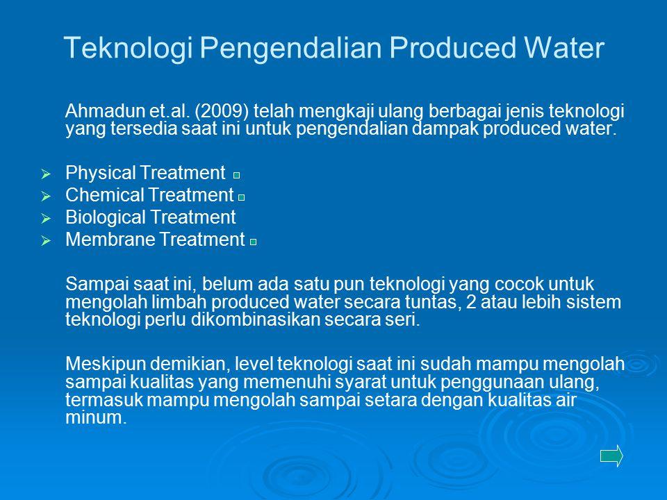 Teknologi Pengendalian Produced Water