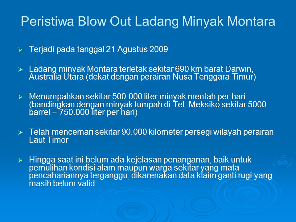 Peristiwa Blow Out Ladang Minyak Montara