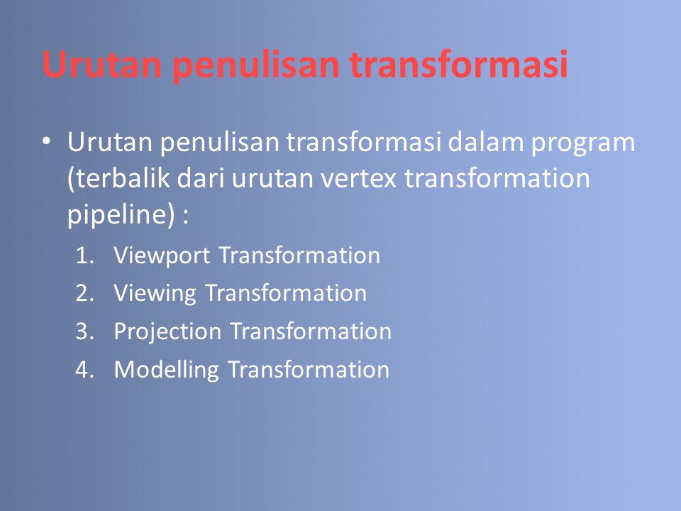 Urutan penulisan transformasi