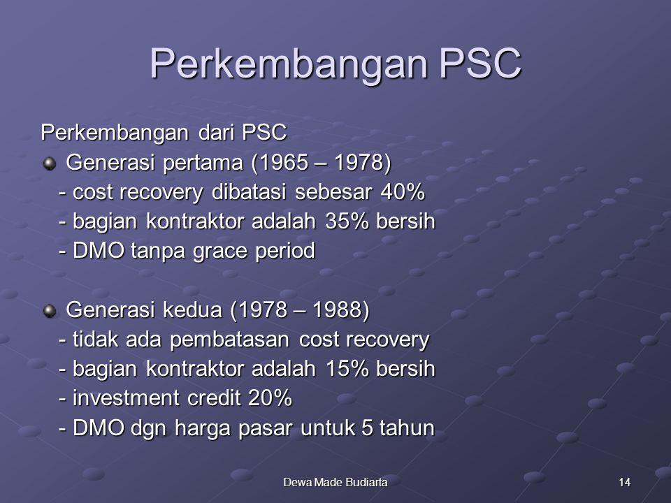Perkembangan PSC Perkembangan dari PSC Generasi pertama (1965 – 1978)