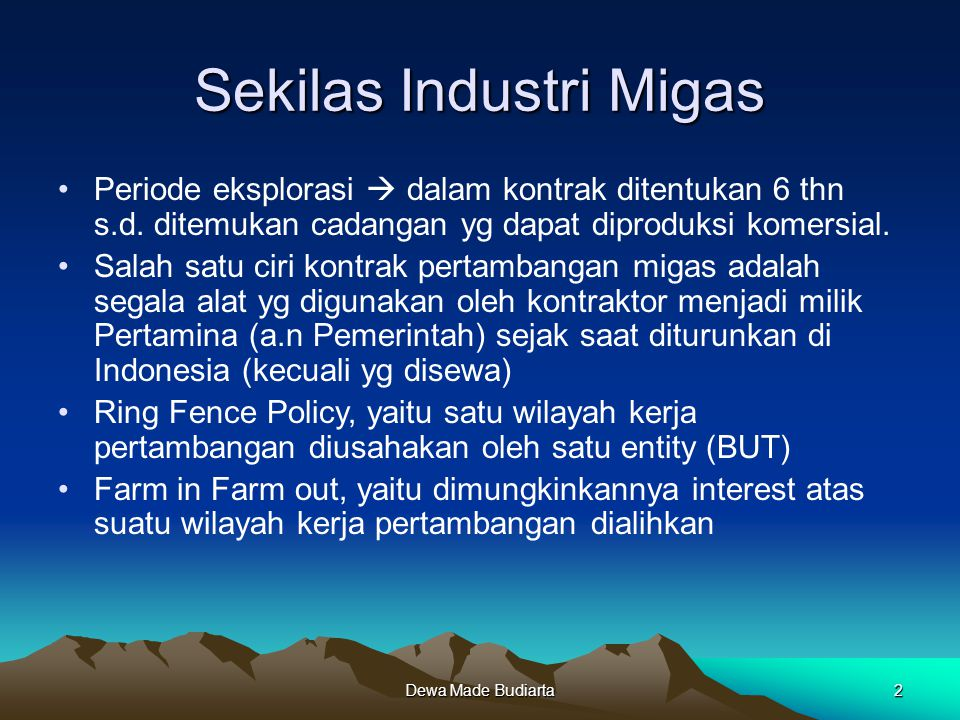 Sekilas Industri Migas