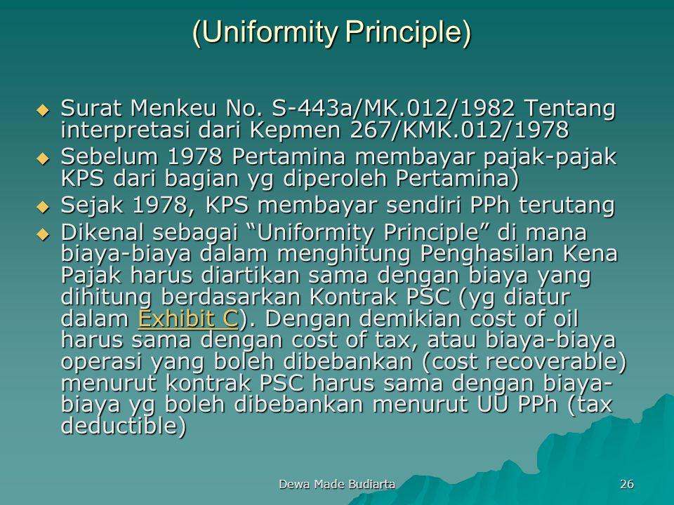 (Uniformity Principle)