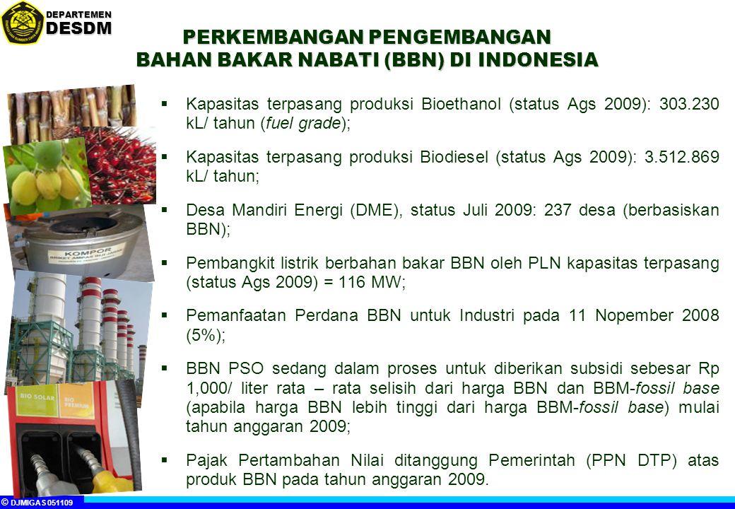 PERKEMBANGAN PENGEMBANGAN BAHAN BAKAR NABATI (BBN) DI INDONESIA
