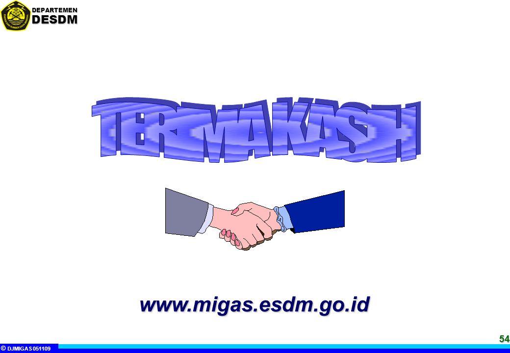 TERIMA KASIH www.migas.esdm.go.id 54 54