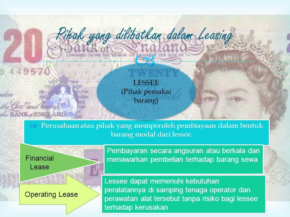 Pihak yang dilibatkan dalam Leasing
