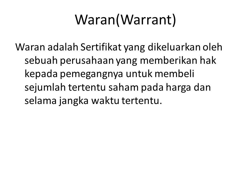Waran(Warrant)