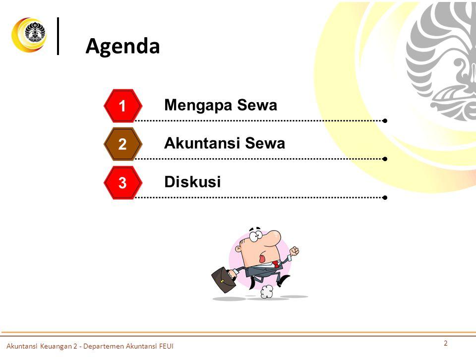 Agenda 1 Mengapa Sewa 2 Akuntansi Sewa 3 Diskusi