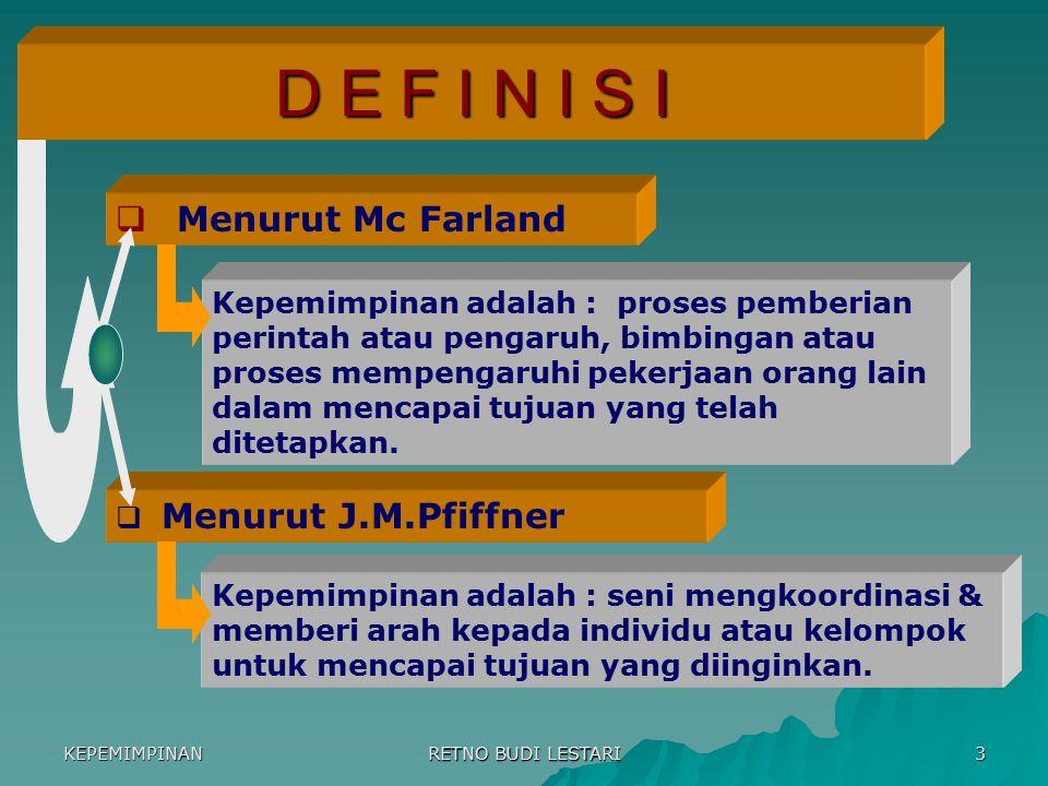 D E F I N I S I Menurut Mc Farland