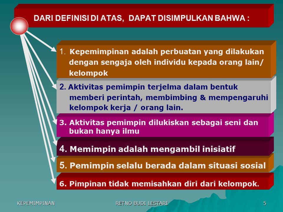 DARI DEFINISI DI ATAS, DAPAT DISIMPULKAN BAHWA :