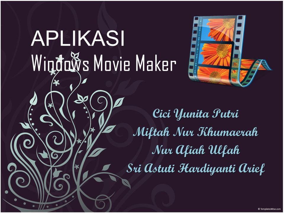 APLIKASI Windows Movie Maker