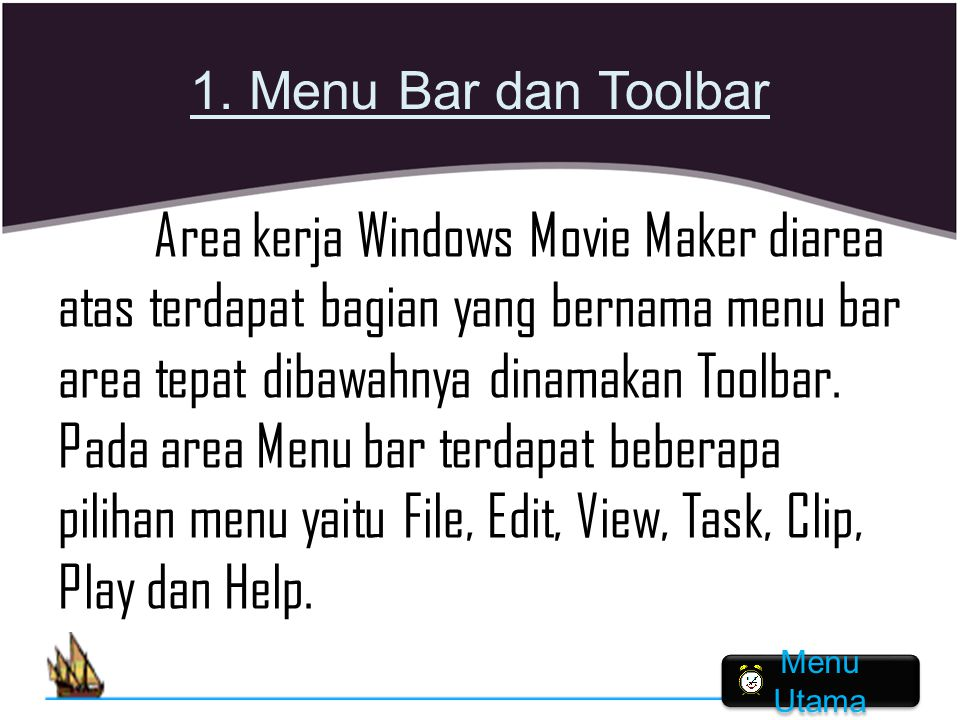 1. Menu Bar dan Toolbar