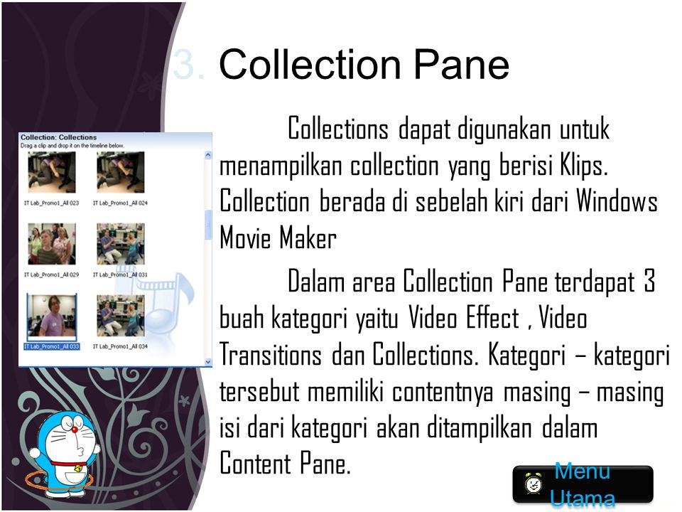 3. Collection Pane