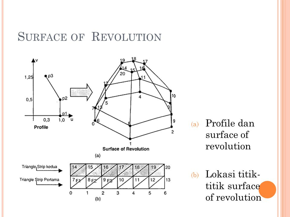 Surface of Revolution Profile dan surface of revolution