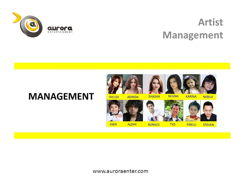 Artist Management www.auroraenter.com