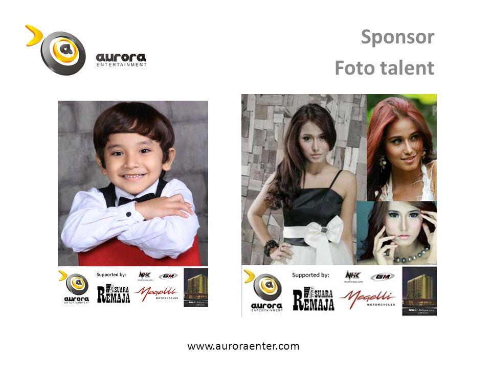 Sponsor Foto talent www.auroraenter.com