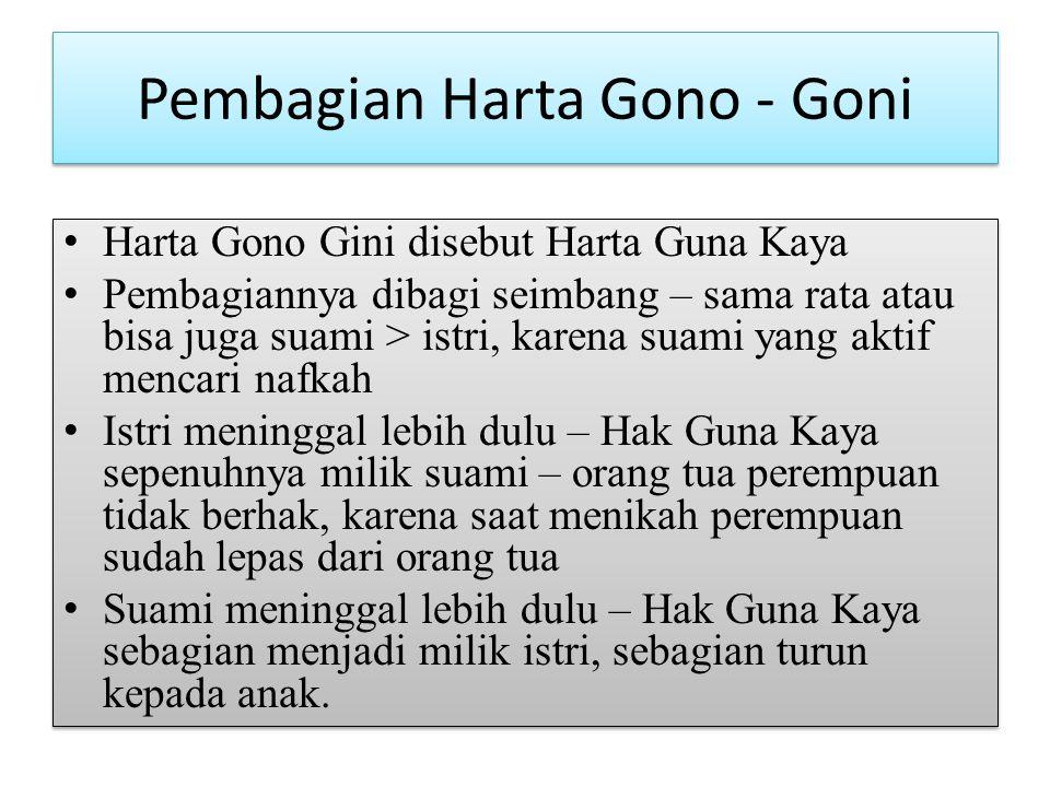 Pembagian Harta Gono - Goni