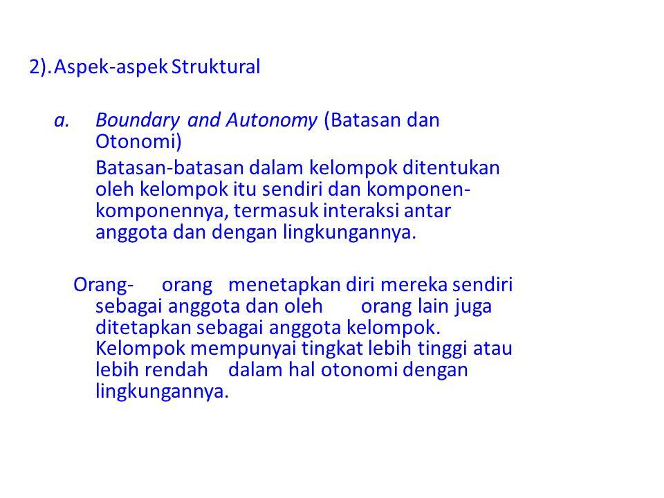 2). Aspek-aspek Struktural
