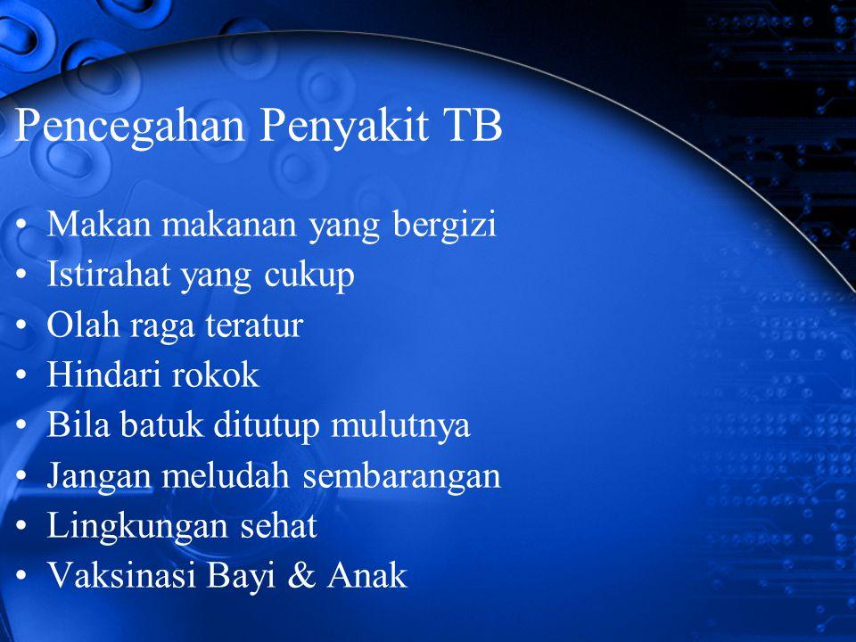 Pencegahan Penyakit TB