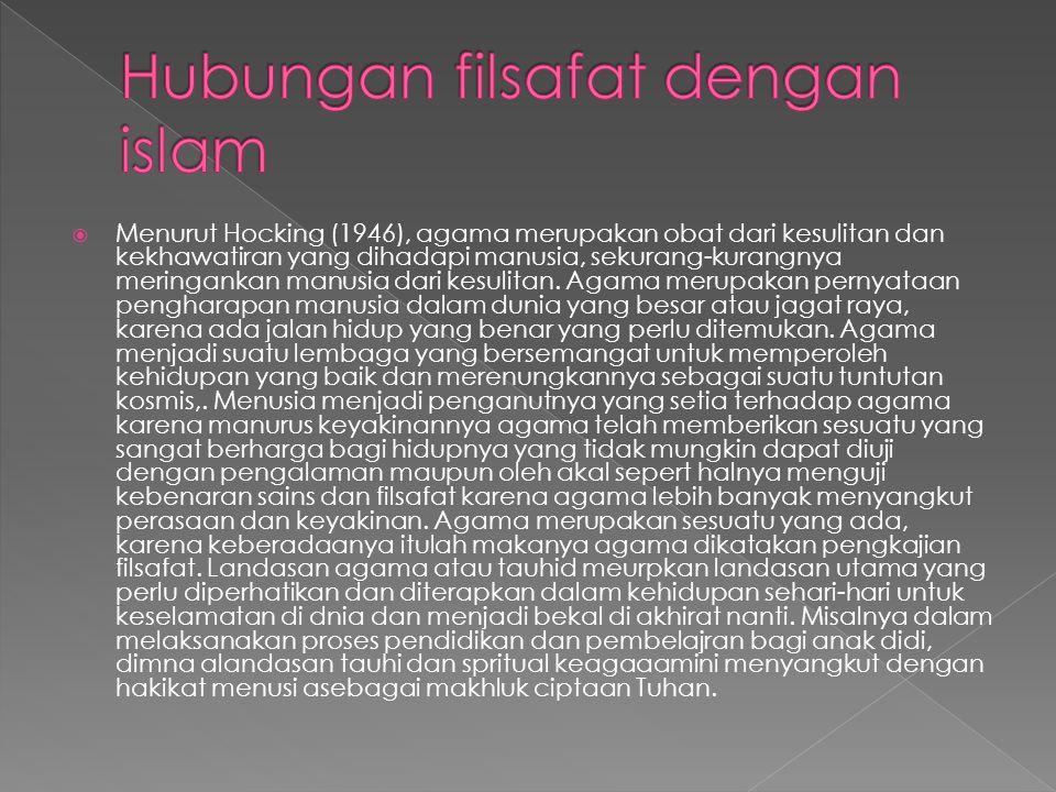 Hubungan filsafat dengan islam