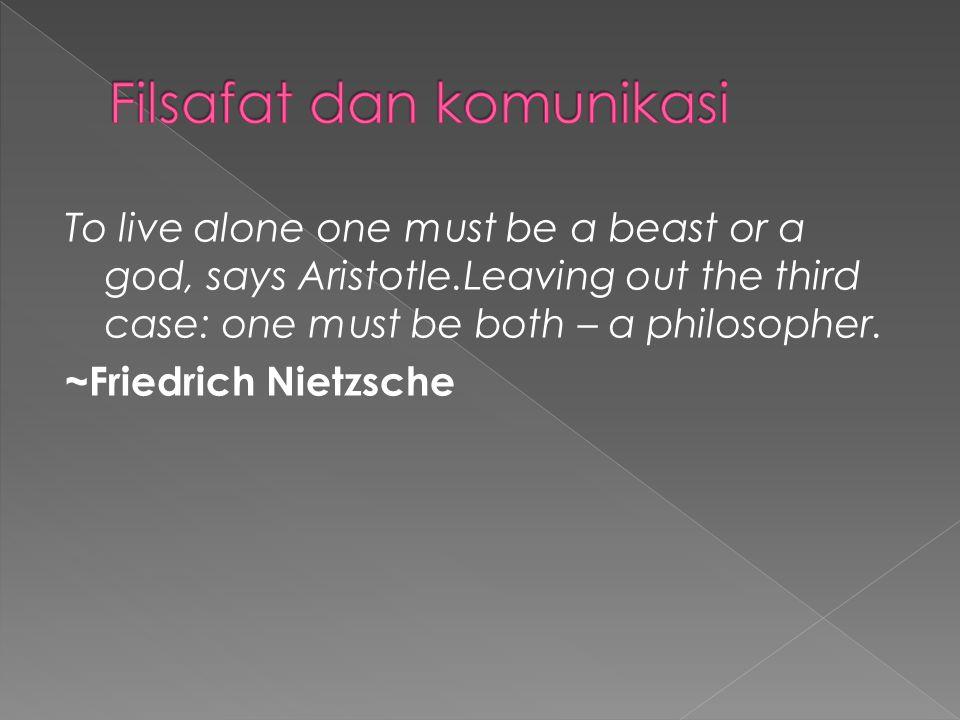 Filsafat dan komunikasi