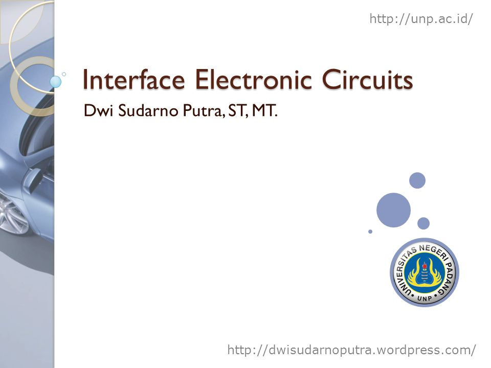 Interface Electronic Circuits