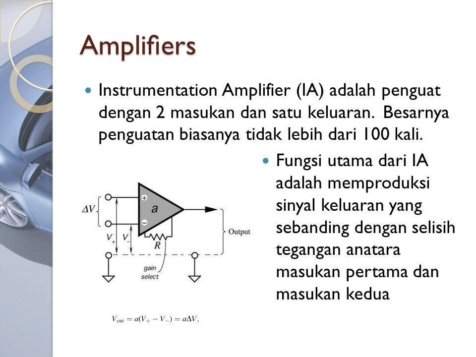 Amplifiers Instrumentation Amplifier (IA) adalah penguat dengan 2 masukan dan satu keluaran. Besarnya penguatan biasanya tidak lebih dari 100 kali.