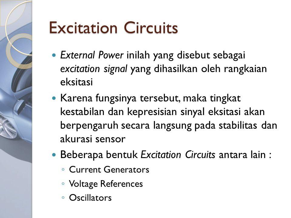 Excitation Circuits External Power inilah yang disebut sebagai excitation signal yang dihasilkan oleh rangkaian eksitasi.