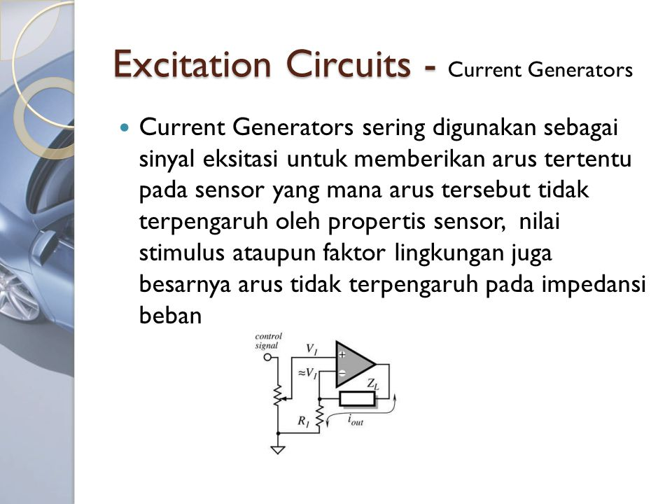 Excitation Circuits - Current Generators