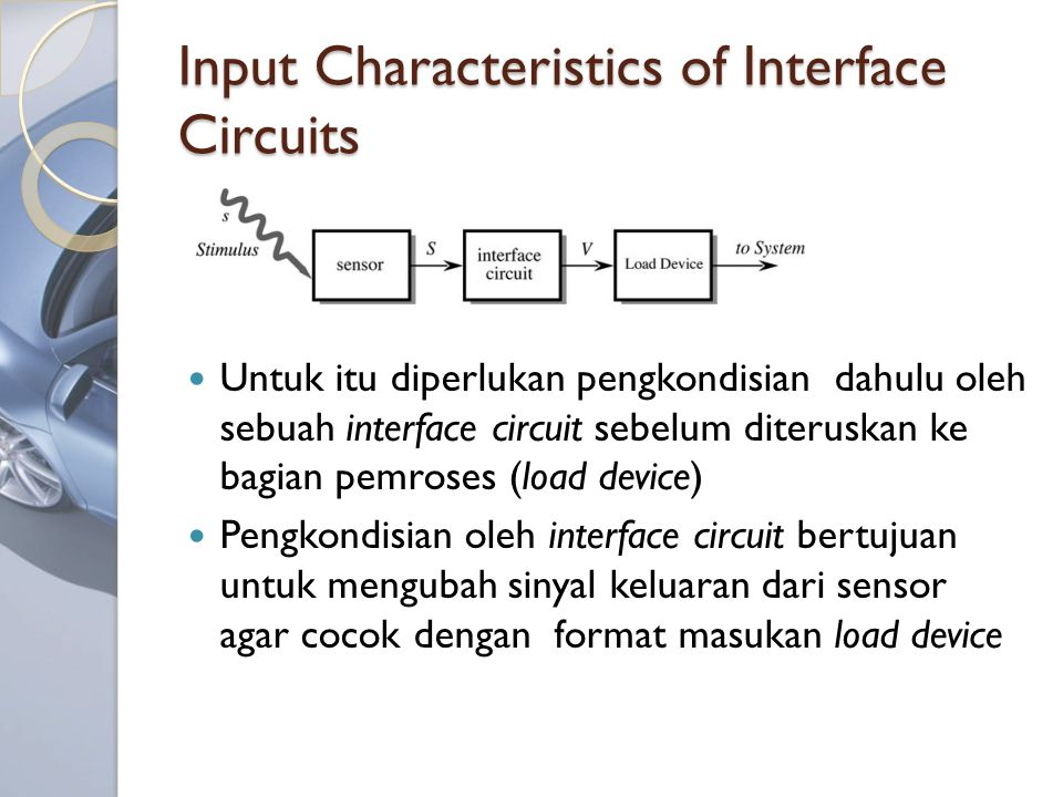Input Characteristics of Interface Circuits