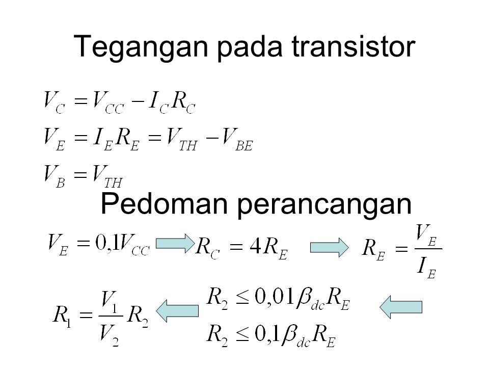 Tegangan pada transistor