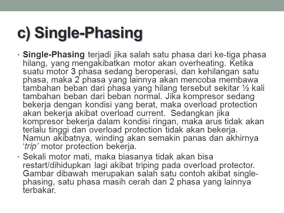 c) Single-Phasing