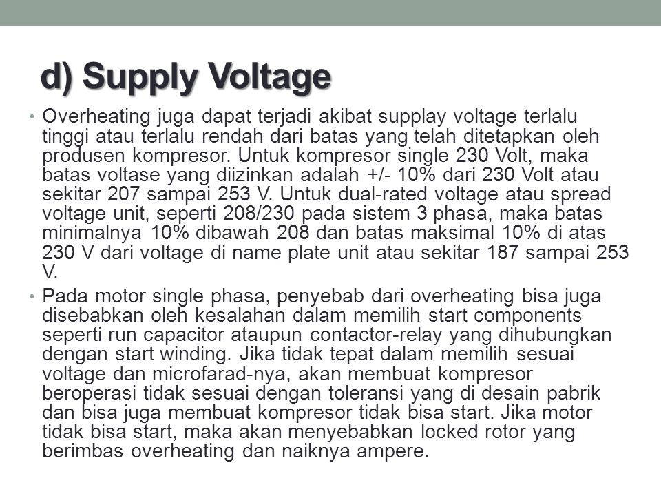 d) Supply Voltage