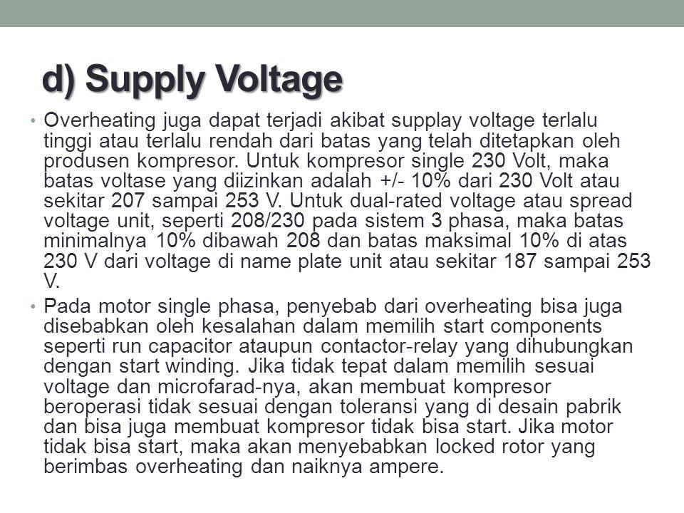 d) Supply Voltage