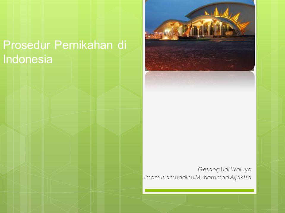 Prosedur Pernikahan di Indonesia