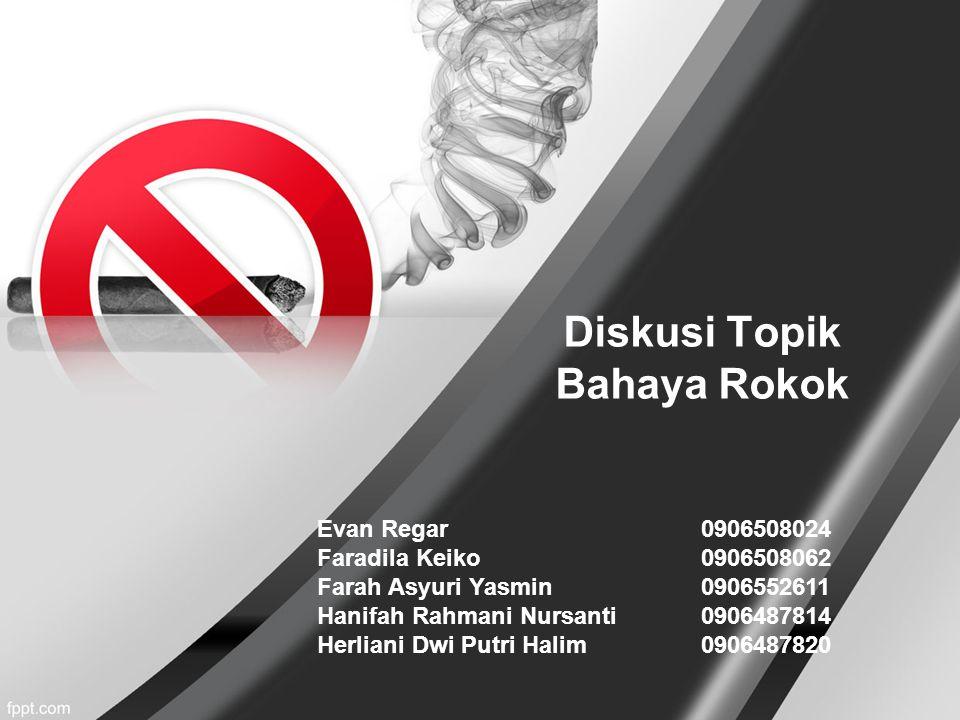 Diskusi Topik Bahaya Rokok