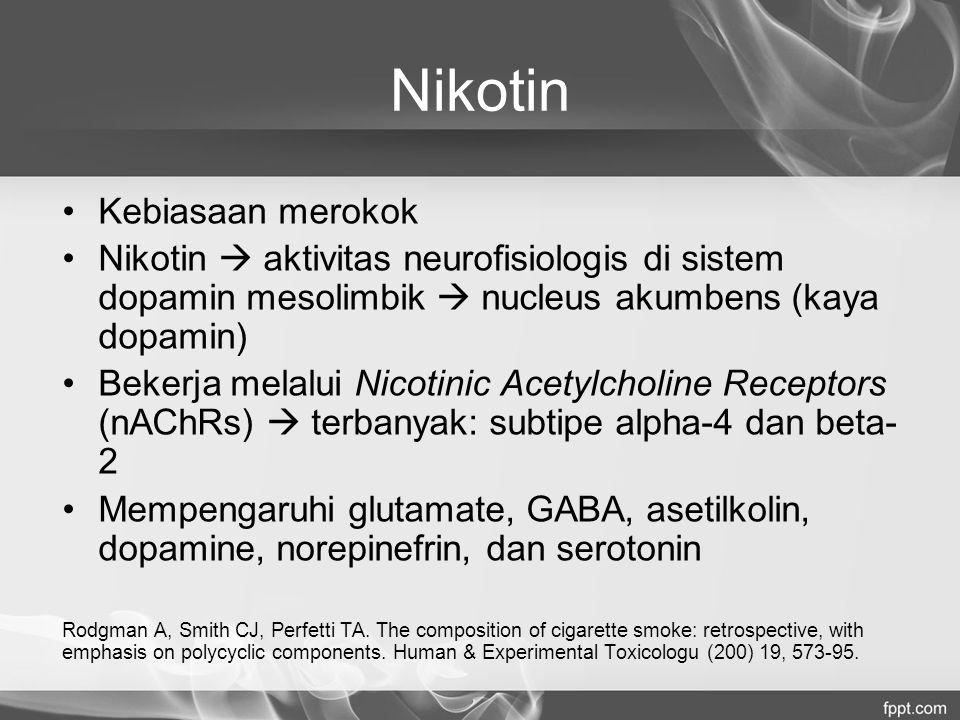 Nikotin Kebiasaan merokok