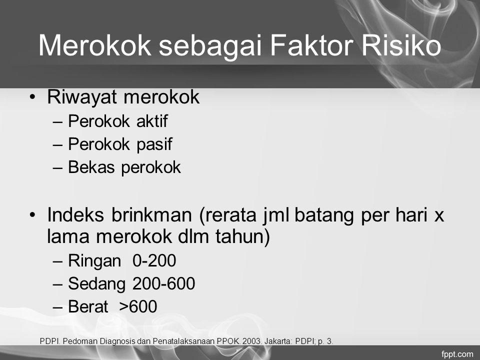 Merokok sebagai Faktor Risiko