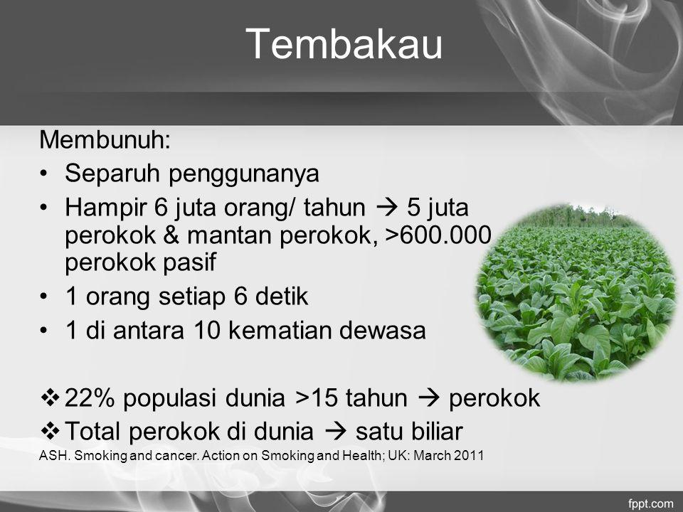 Tembakau Membunuh: Separuh penggunanya