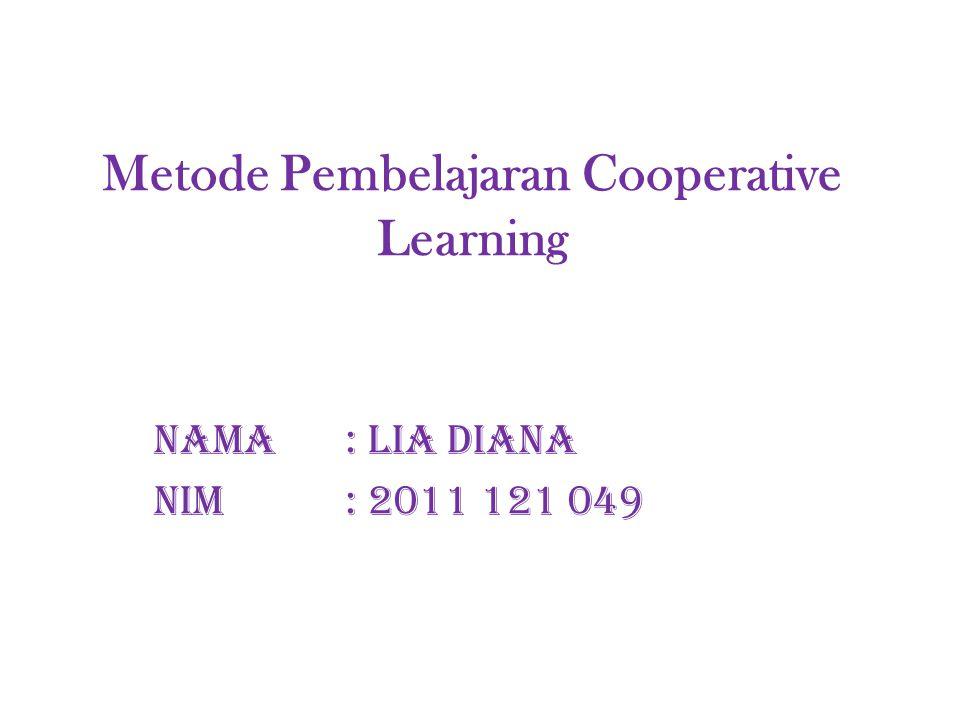 Metode Pembelajaran Cooperative Learning