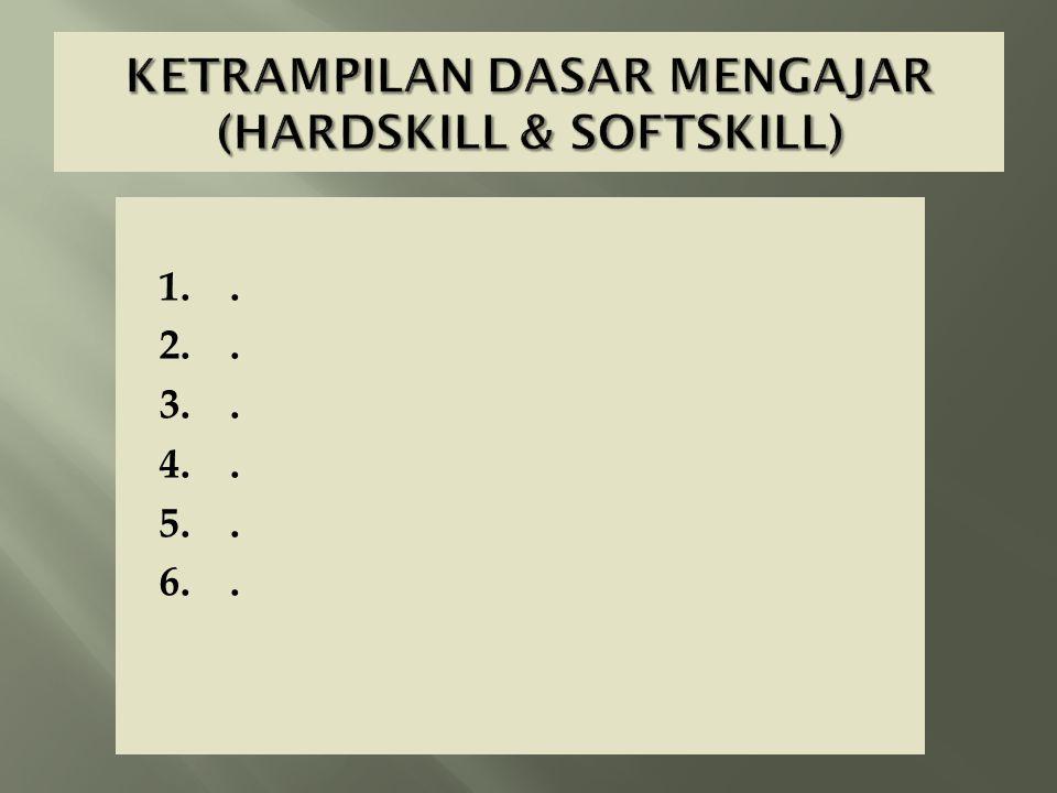 KETRAMPILAN DASAR MENGAJAR (HARDSKILL & SOFTSKILL)