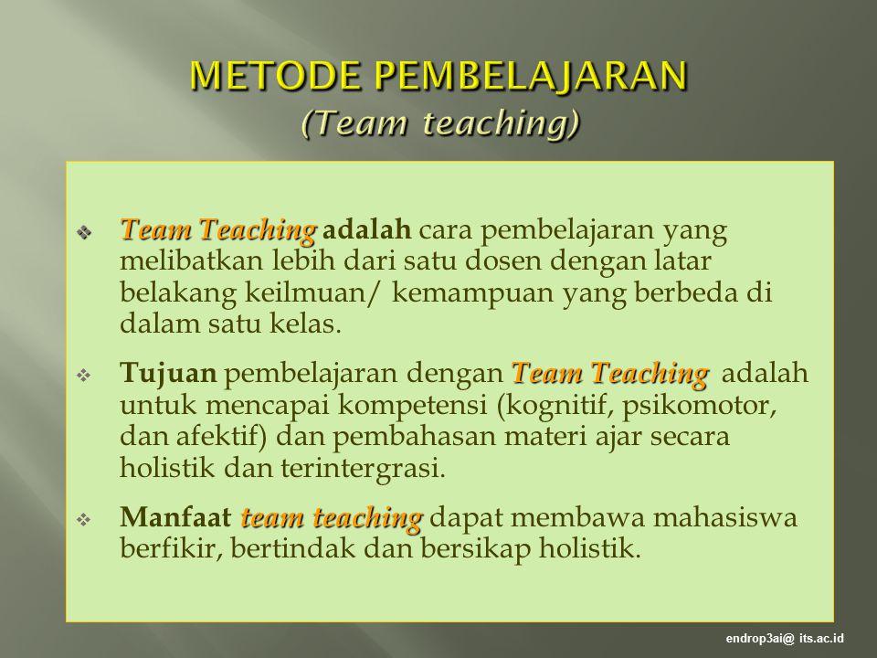 METODE PEMBELAJARAN (Team teaching)