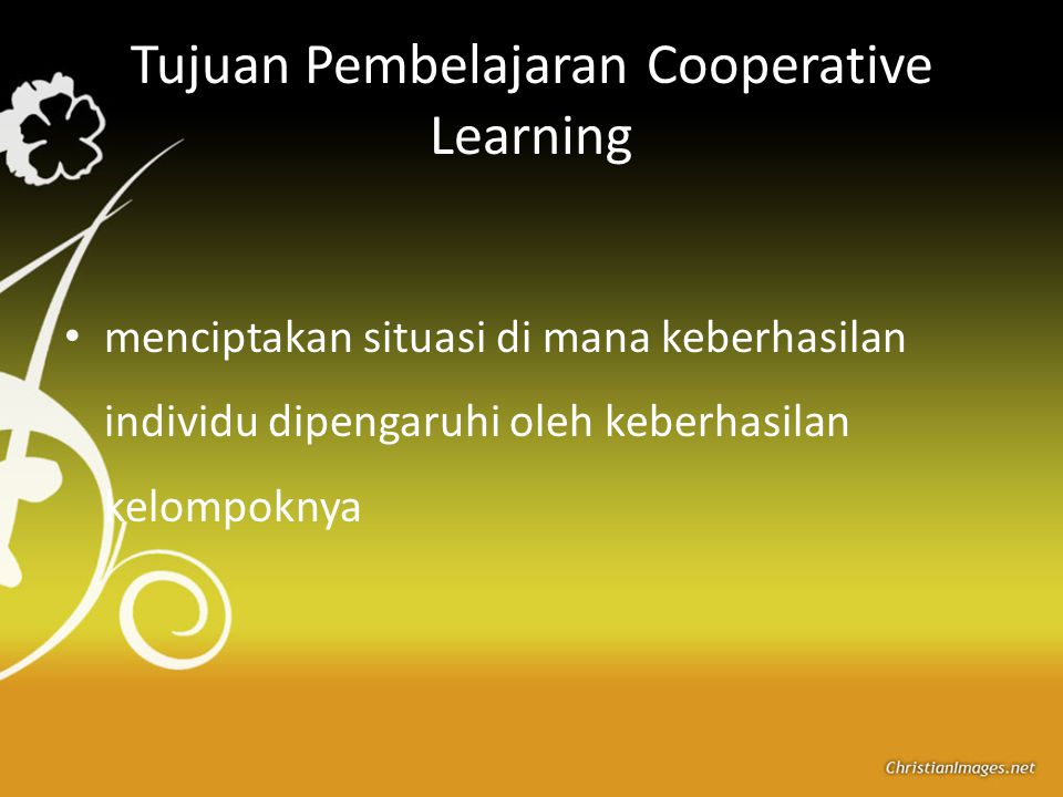 Tujuan Pembelajaran Cooperative Learning