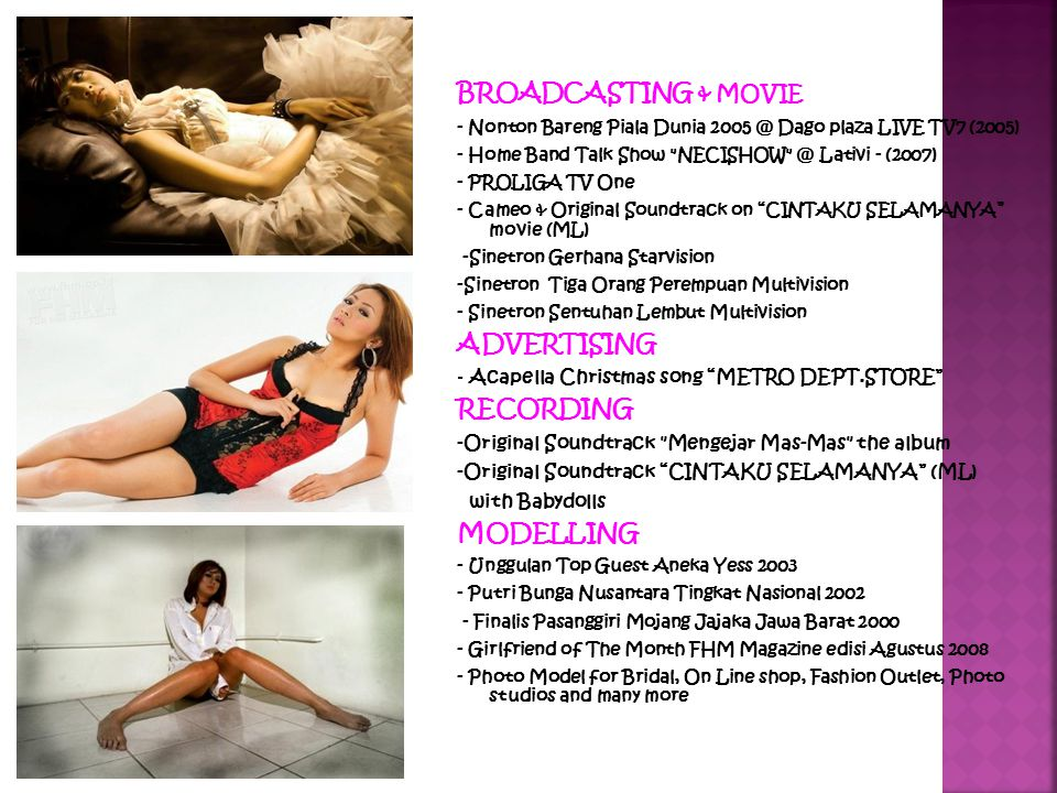 BROADCASTING & MOVIE ADVERTISING RECORDING MODELLING