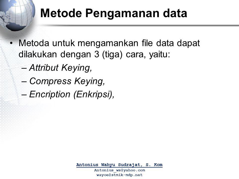 Metode Pengamanan data