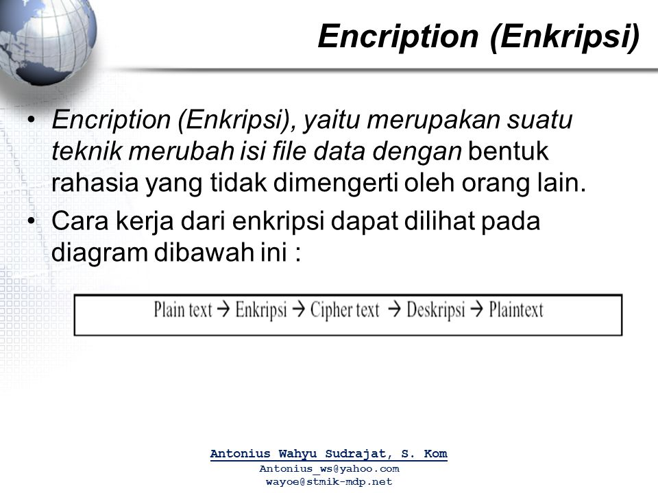 Encription (Enkripsi)