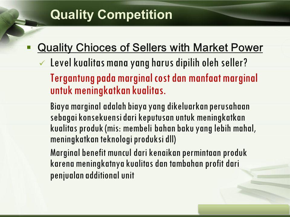 Level kualitas mana yang harus dipilih oleh seller