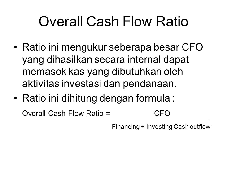 Overall Cash Flow Ratio