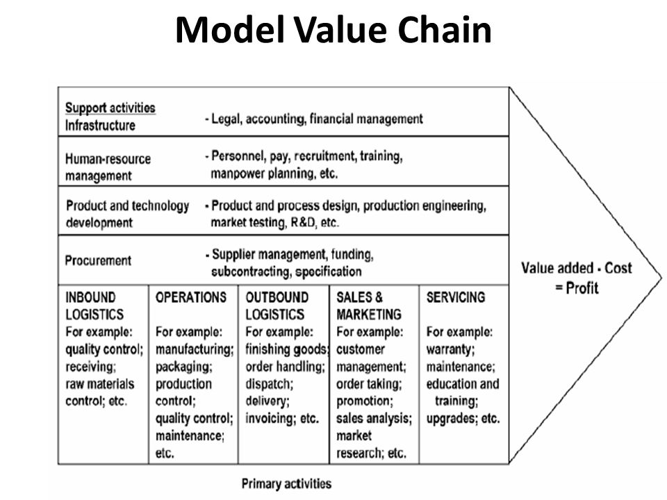 Model Value Chain