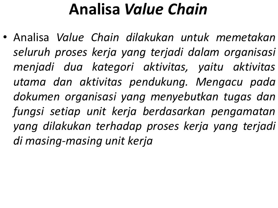 Analisa Value Chain