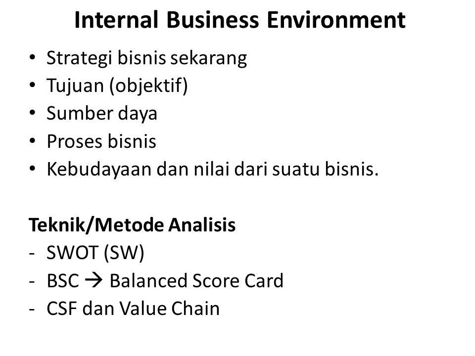 Internal Business Environment